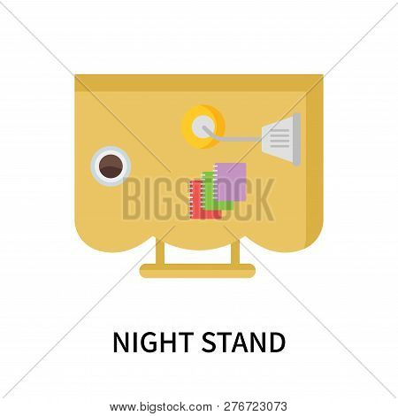 Night Stand Icon Isolated On White Background. Night Stand Icon Simple Sign. Night Stand Icon Trendy