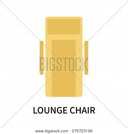 Lounge Chair Icon Isolated On White Background. Lounge Chair Icon Simple Sign. Lounge Chair Icon Tre