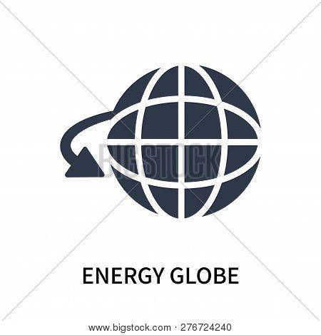 Energy Globe Icon Isolated On White Background. Energy Globe Icon Simple Sign. Energy Globe Icon Tre