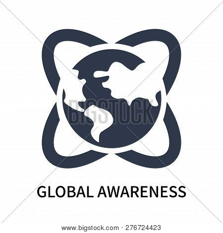 Global Awareness Icon Isolated On White Background. Global Awareness Icon Simple Sign. Global Awaren