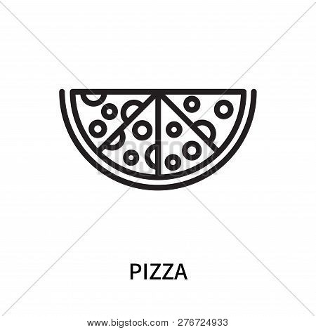 Pizza Icon Isolated On White Background. Pizza Icon Simple Sign. Pizza Icon Trendy And Modern Symbol