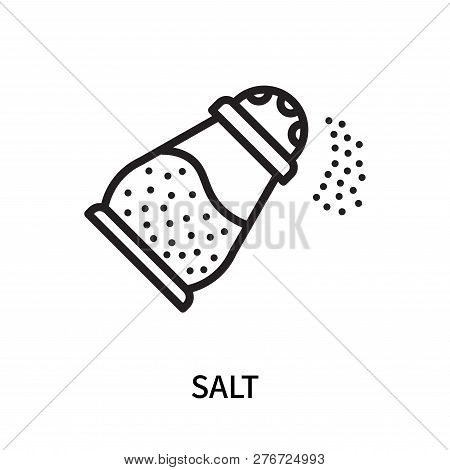 Salt Icon Isolated On White Background. Salt Icon Simple Sign. Salt Icon Trendy And Modern Symbol Fo