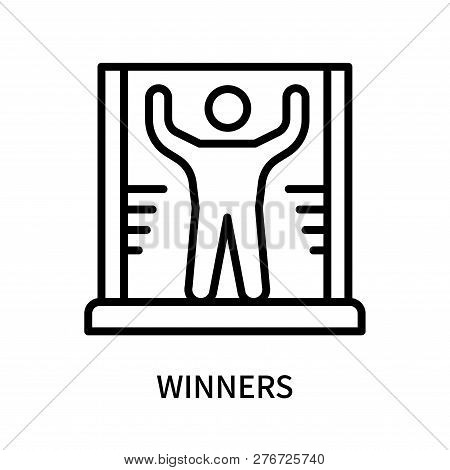 Winners Icon Isolated On White Background. Winners Icon Simple Sign. Winners Icon Trendy And Modern