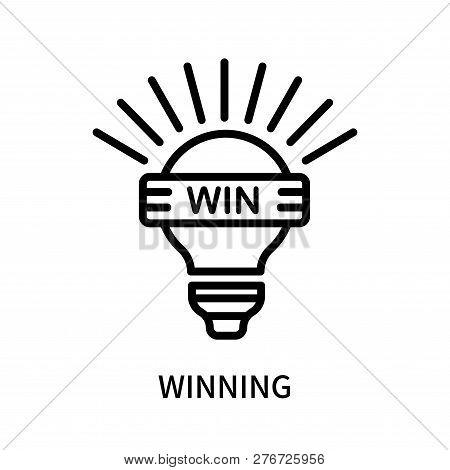 Winning Icon Isolated On White Background. Winning Icon Simple Sign. Winning Icon Trendy And Modern