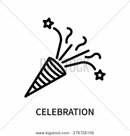 Celebration Icon Isolated On White Background. Celebration Icon Simple Sign. Celebration Icon Trendy
