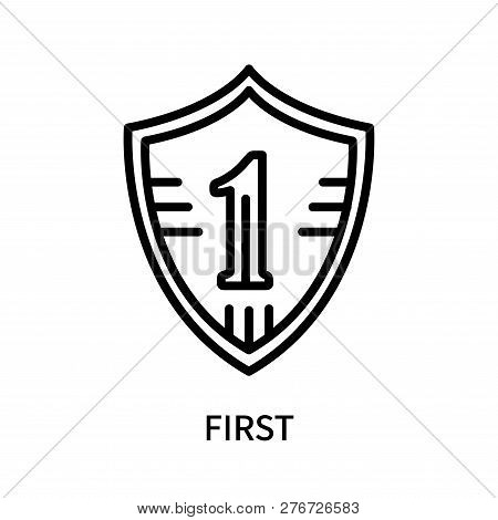 First Icon Isolated On White Background. First Icon Simple Sign. First Icon Trendy And Modern Symbol