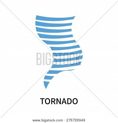 Tornado Icon Isolated On White Background. Tornado Icon Simple Sign. Tornado Icon Trendy And Modern