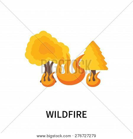 Wildfire Icon Isolated On White Background. Wildfire Icon Simple Sign. Wildfire Icon Trendy And Mode