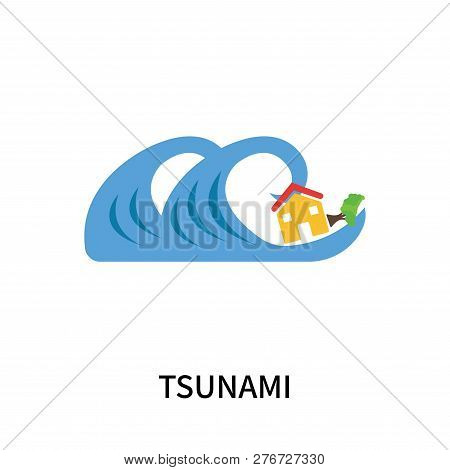 Tsunami Icon Isolated On White Background. Tsunami Icon Simple Sign. Tsunami Icon Trendy And Modern