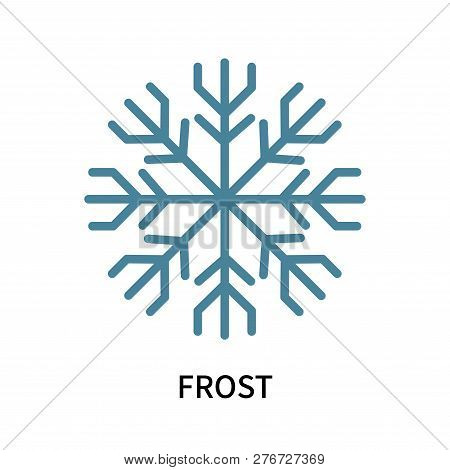 Frost Icon Isolated On White Background. Frost Icon Simple Sign. Frost Icon Trendy And Modern Symbol
