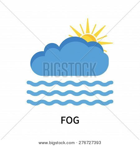 Fog Icon Isolated On White Background. Fog Icon Simple Sign. Fog Icon Trendy And Modern Symbol For G