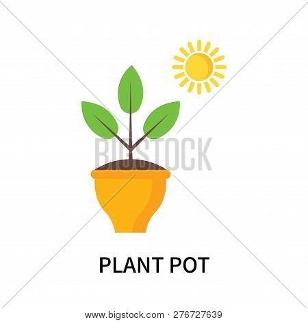 Plant Pot Icon Isolated On White Background. Plant Pot Icon Simple Sign. Plant Pot Icon Trendy And M