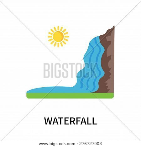 Waterfall Icon Isolated On White Background. Waterfall Icon Simple Sign. Waterfall Icon Trendy And M