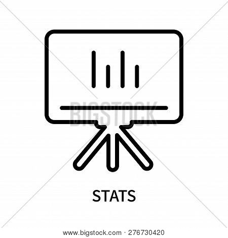 Stats Icon Isolated On White Background. Stats Icon Simple Sign. Stats Icon Trendy And Modern Symbol