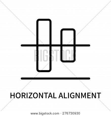 Horizontal Alignment Icon Isolated On White Background. Horizontal Alignment Icon Simple Sign. Horiz