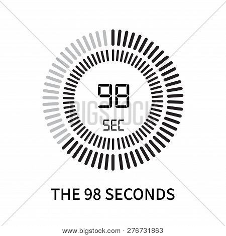 The 98 Seconds Icon Isolated On White Background. The 98 Seconds Icon Simple Sign. The 98 Seconds Ic