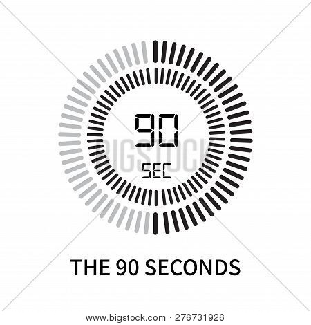 The 90 Seconds Icon Isolated On White Background. The 90 Seconds Icon Simple Sign. The 90 Seconds Ic