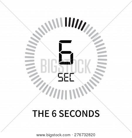 The 6 Seconds Icon Isolated On White Background. The 6 Seconds Icon Simple Sign. The 6 Seconds Icon