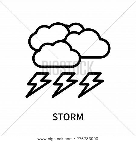 Storm Icon Isolated On White Background. Storm Icon Simple Sign. Storm Icon Trendy And Modern Symbol