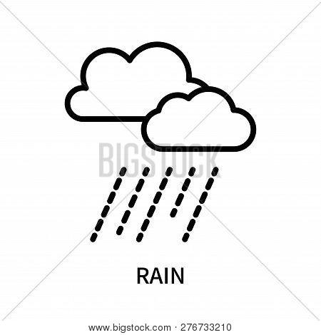 Rain Icon Isolated On White Background. Rain Icon Simple Sign. Rain Icon Trendy And Modern Symbol Fo
