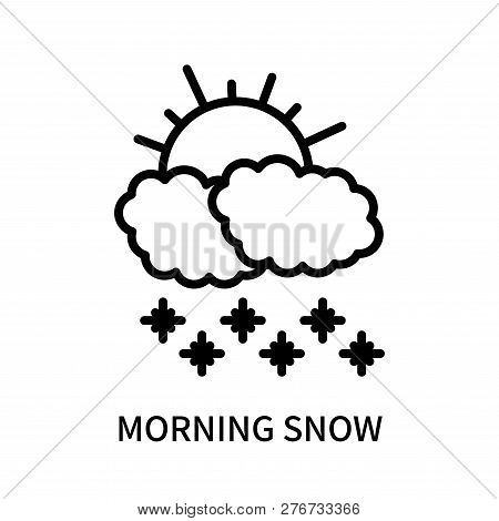 Morning Snow Icon Isolated On White Background. Morning Snow Icon Simple Sign. Morning Snow Icon Tre