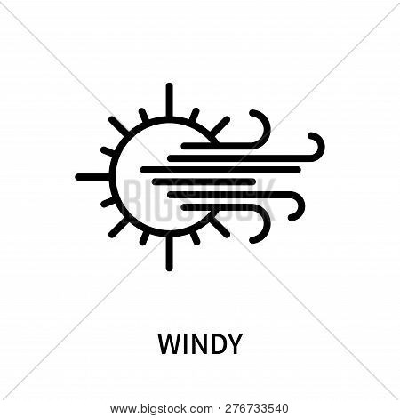 Windy Icon Isolated On White Background. Windy Icon Simple Sign. Windy Icon Trendy And Modern Symbol
