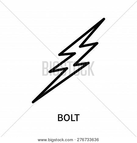 Bolt Icon Isolated On Vector Photo Free Trial Bigstock