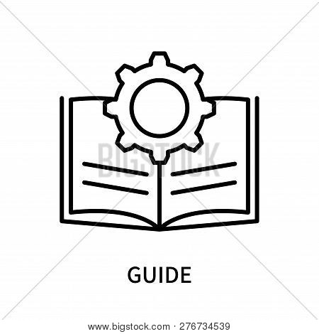 Guide Icon Isolated On White Background. Guide Icon Simple Sign. Guide Icon Trendy And Modern Symbol