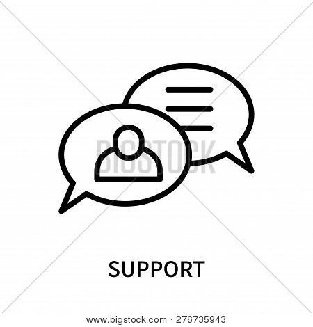 Support Icon Isolated On White Background. Support Icon Simple Sign. Support Icon Trendy And Modern