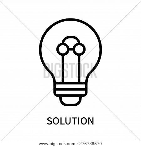 Solution Icon Isolated On White Background. Solution Icon Simple Sign. Solution Icon Trendy And Mode
