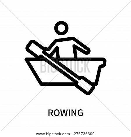 Rowing Icon Isolated On White Background. Rowing Icon Simple Sign. Rowing Icon Trendy And Modern Sym
