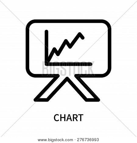 Chart Icon Isolated On White Background. Chart Icon Simple Sign. Chart Icon Trendy And Modern Symbol