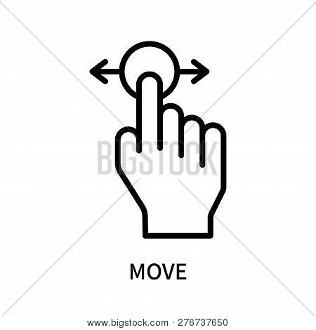 Move Icon Isolated On White Background. Move Icon Simple Sign. Move Icon Trendy And Modern Symbol Fo