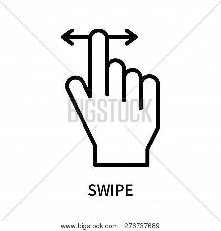 Swipe Icon Isolated On White Background. Swipe Icon Simple Sign. Swipe Icon Trendy And Modern Symbol