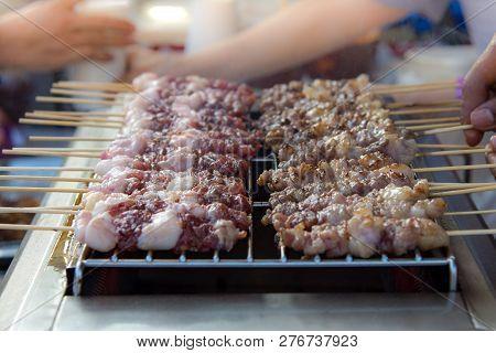 Barbecued Pork, Pork Satay Street Food