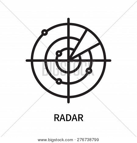 Radar Icon Isolated On White Background. Radar Icon Simple Sign. Radar Icon Trendy And Modern Symbol