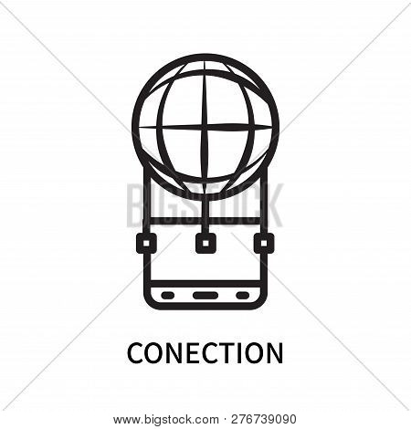 Conection Icon Isolated On White Background. Conection Icon Simple Sign. Conection Icon Trendy And M
