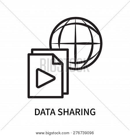 Data Sharing Icon Isolated On White Background. Data Sharing Icon Simple Sign. Data Sharing Icon Tre