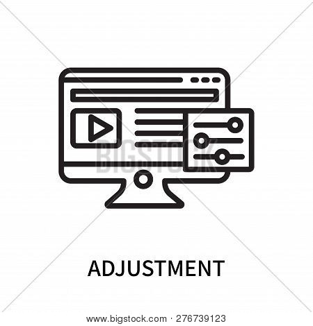 Adjustment Icon Isolated On White Background. Adjustment Icon Simple Sign. Adjustment Icon Trendy An