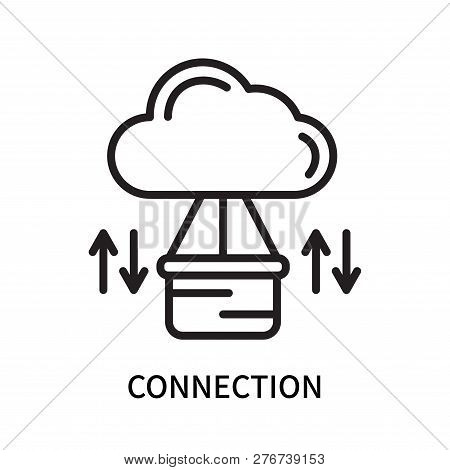 Connection Icon Isolated On White Background. Connection Icon Simple Sign. Connection Icon Trendy An