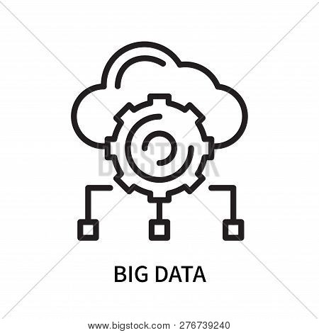 Big Data Icon Isolated On White Background. Big Data Icon Simple Sign. Big Data Icon Trendy And Mode
