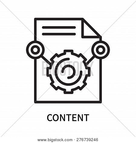Content Icon Isolated On White Background. Content Icon Simple Sign. Content Icon Trendy And Modern