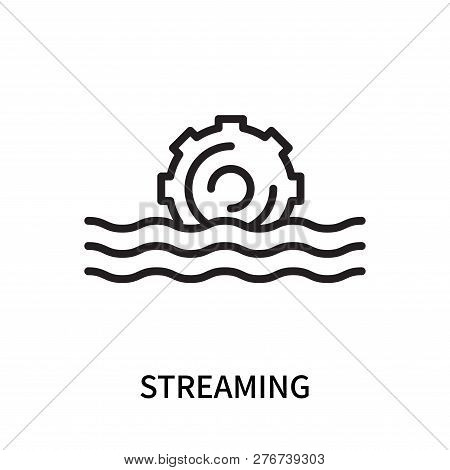Streaming Icon Isolated On White Background. Streaming Icon Simple Sign. Streaming Icon Trendy And M