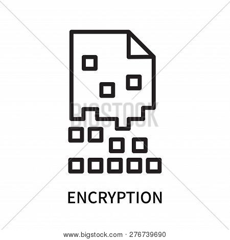 Encryption Icon Isolated On White Background. Encryption Icon Simple Sign. Encryption Icon Trendy An