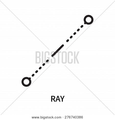 Ray Icon Isolated On White Background. Ray Icon Simple Sign. Ray Icon Trendy And Modern Symbol For G