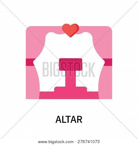 Altar Icon Isolated On White Background. Altar Icon Simple Sign. Altar Icon Trendy And Modern Symbol