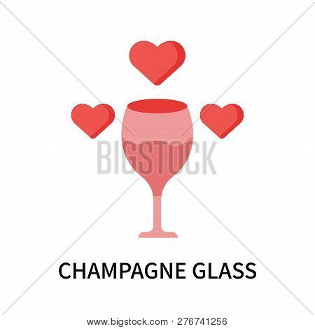 Champagne Glass Icon Isolated On White Background. Champagne Glass Icon Simple Sign. Champagne Glass