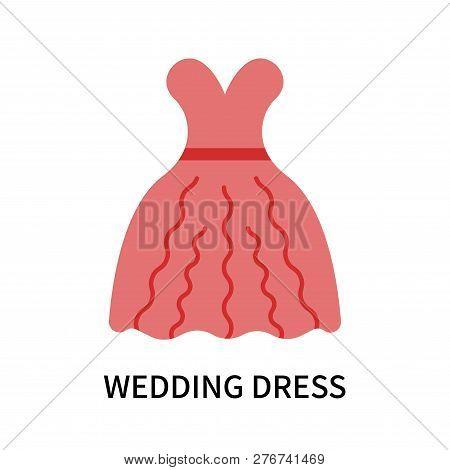 Wedding Dress Icon Isolated On White Background. Wedding Dress Icon Simple Sign. Wedding Dress Icon