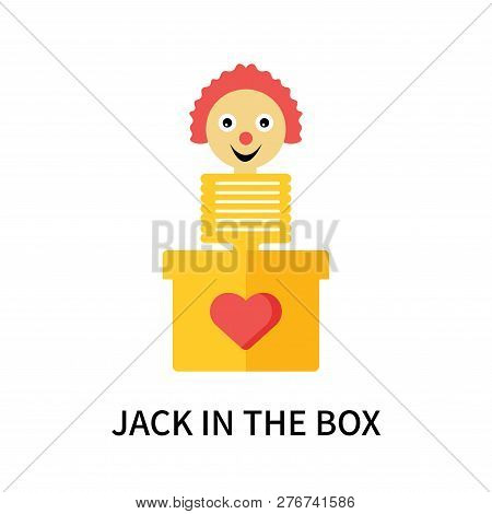 Jack In The Box Icon Isolated On White Background. Jack In The Box Icon Simple Sign. Jack In The Box
