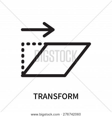Transform Icon Isolated On White Background. Transform Icon Simple Sign. Transform Icon Trendy And M